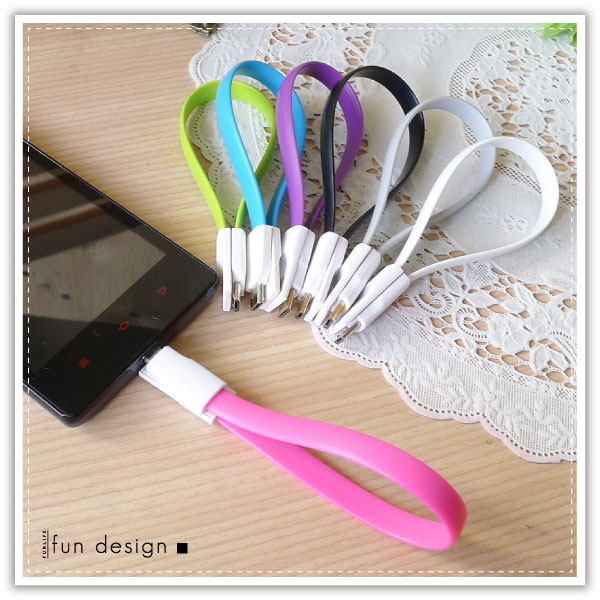 【aife life】Micro USB 磁力傳輸線/手機平板充電傳輸線/磁吸線/彩色扁線/三星 samsung HTC SONY