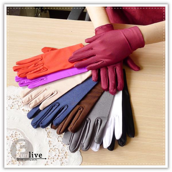 【aife life】多色彈性絲質手套,防曬、栽種、婚禮、司儀,宣傳/開幕活動/禮贈品最佳選擇