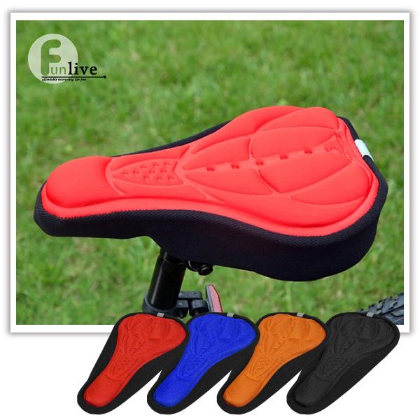 【aife life】立體自行車座墊套/加厚超軟海綿座椅/立體3D防震椅套/腳踏車/越野車/公路車/折疊車/單車