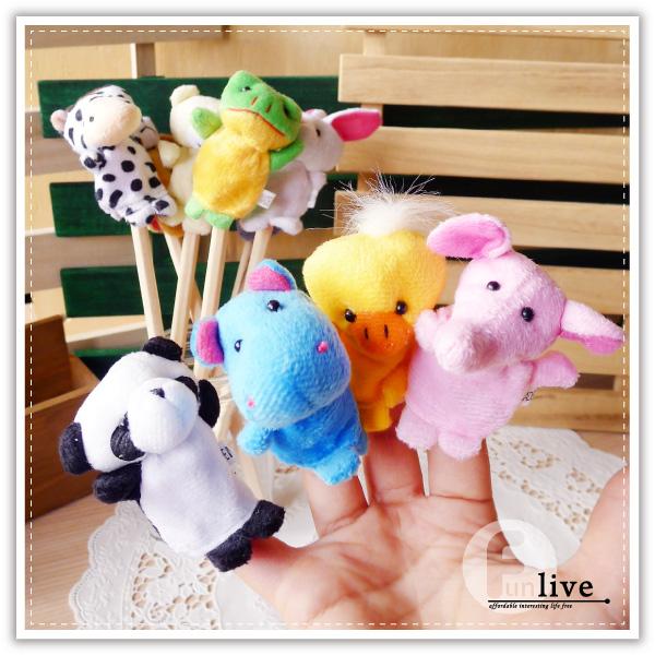 【aife life】動物指偶筆套/小動物指偶玩具/指套/動物筆套/說故事話劇道具/布娃娃