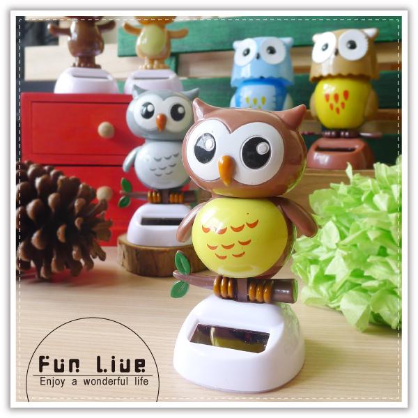【aife life】太陽能搖擺娃娃/貓頭鷹 熊熊 骷髏造型太陽能娃娃/療癒系搖頭娃娃/汽車擺飾