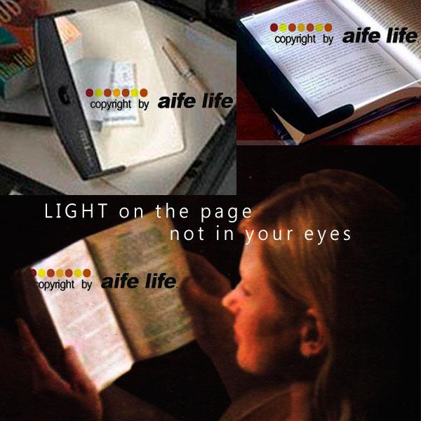 【aife life】讀書燈、閱讀燈、夾書燈、夜讀燈、亮書板,可攜式亮平板看書燈,白光設計