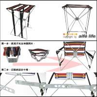 【aife life】戶外休閒必備鐵架摺疊椅(中)/沙灘椅/折疊椅,鐵架結構耐用又堅固,可放汽車上,好收納不占空間!