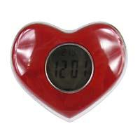 【aife life】愛心造型燈泠光LED報時、顯示溫度、會說話電子鬧鐘/時鐘