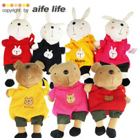 【aife life】韓國超夯Metoo(米兔)系列布偶/玩偶背包,害羞的神情、圓滾滾的腦袋,可愛魅力無法擋,不輸法國兔