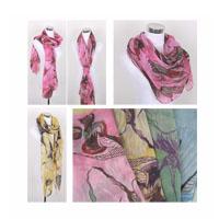 【aife life】秋冬最好搭的百搭長絲巾/圍巾,綁包包做造型都很方便也很時尚/保暖