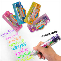 【aife life】按動式旋轉八色螢光筆,塗鴉美勞、彩繪筆記、上課畫重點、最佳幼教文具贈禮品