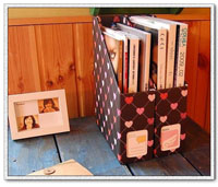 【aife life】韓風書籍雜誌紙質收納盒、可放A4文件,黑底桃心愛心款,讓您的桌面更乾淨!!