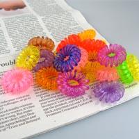 【aife life】韓國熱賣多彩糖果色電話線髮圈/髮束,不挑色隨機出貨