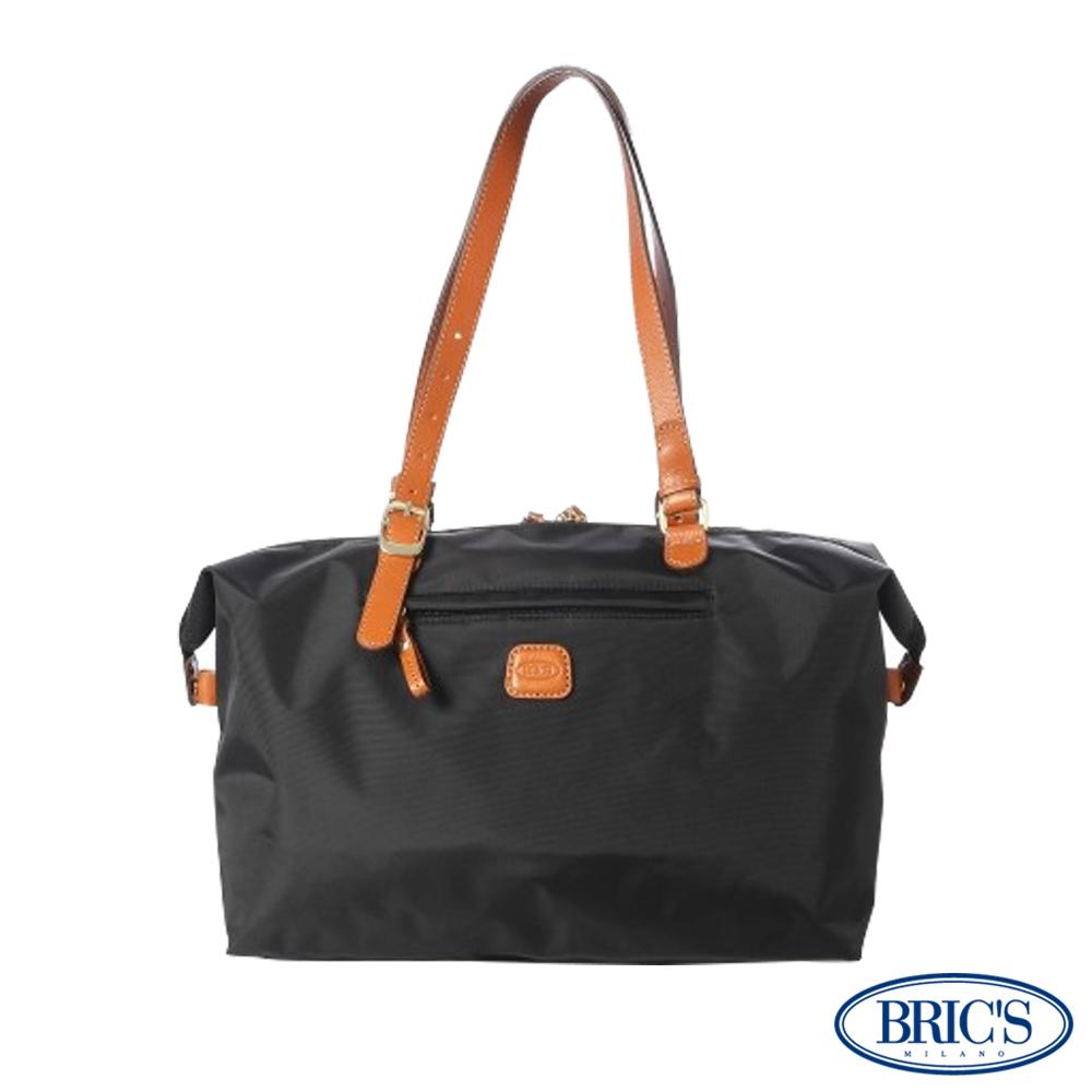【米蘭BRIC'S】經典尼龍多空間-手提袋-黑色 收納女士休閒