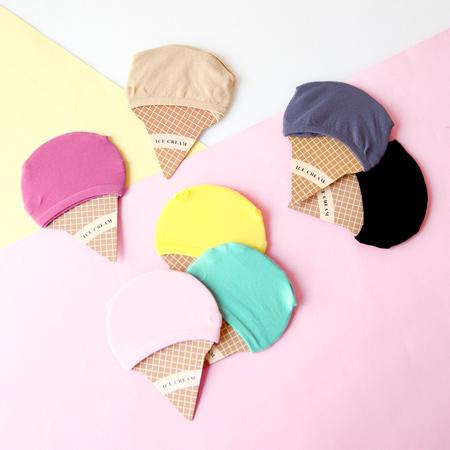 馬卡龍色冰淇淋隱形短襪 牛奶絲 超彈力 隱形襪 船型襪 襪子 造型襪 流行襪【N201498】