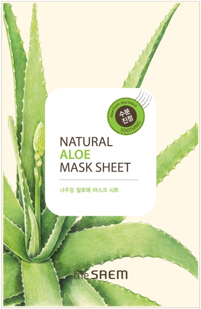 韓國the SAEM Natural 美顏蘆薈面膜 21ml Natural Aloe Mask Sheet (New)【辰湘國際】