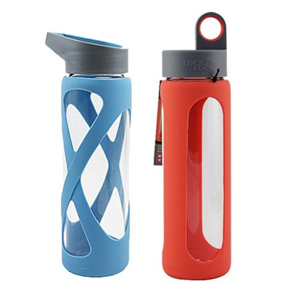 樂扣樂扣耐熱玻璃水壺矽膠防滑設計510ml提把水杯-大廚師百貨