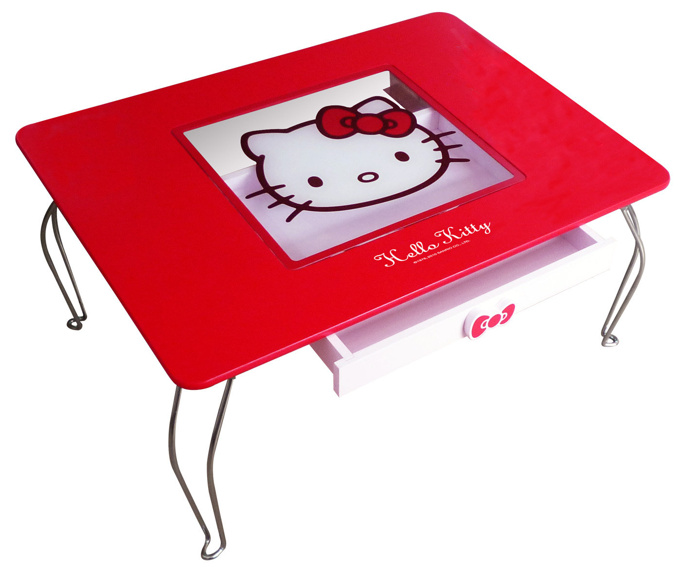 【真愛日本】11102800001 玻璃和式桌-紅 三麗鷗 Hello Kitty 凱蒂貓  桌子  和室桌  書桌