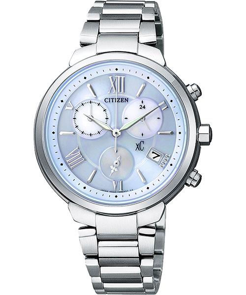 CITIZEN星辰FB1330-55L氣質淡雅光動能女錶/藍面34mm