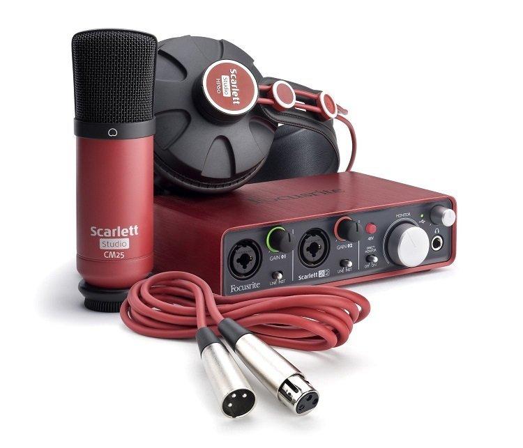 Focusrite Scarlett Studio 數位錄音套件 (全新盒裝)(含 2i2 錄音介面、麥克風、耳機)