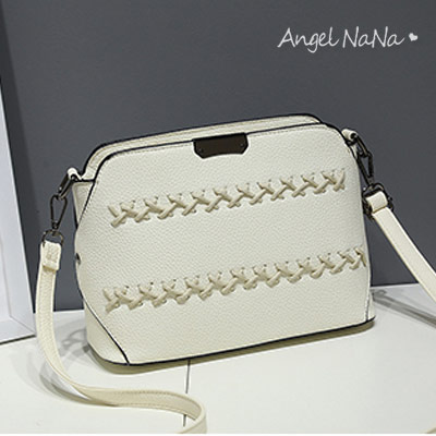 (現貨)斜背包。AngelNaNa 韓版 編織 女側背包 小包包【B167】