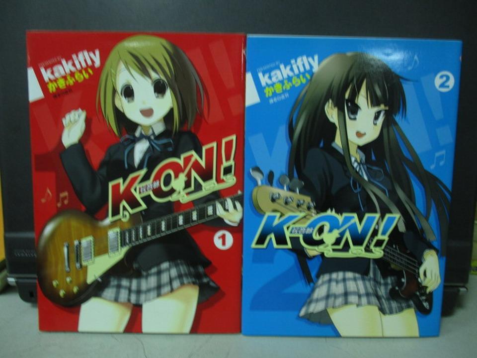 【書寶二手書T1/漫畫書_NEE】K-ON!輕音部_1&2集_共2本合售_虛羽