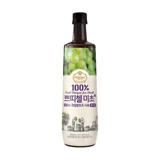 有樂町進口食品 韓國人氣水果醋 CJ水果醋500ml 青葡萄醋 8801007333038
