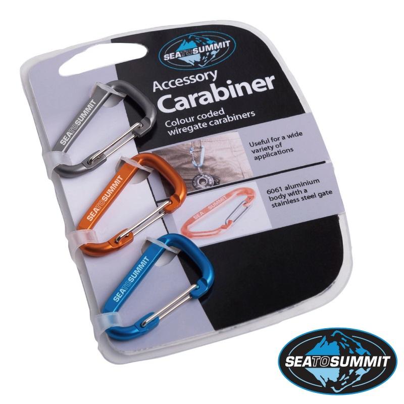 【【蘋果戶外】】Sea to summit AABINER3『鉤環*3/』鋁合金束物帶 Tie Down Accessory Straps