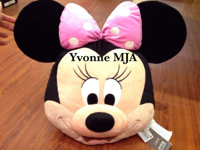 *Yvonne MJA美國代購*美國迪士尼樂園限定正品米奇米妮大蝴蝶結大頭絨毛抱枕