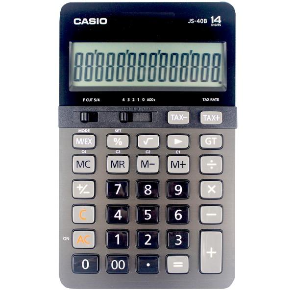 CASIO 卡西歐 JS-40B 商用計算機-高品質14位數中長型/一台入{促1600}~(原JS-40TS)全新有保固