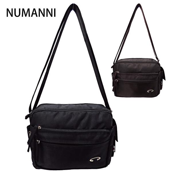 25-a212【NUMANNI 奴曼尼】極簡型多隔層尼龍側背包 (二色)
