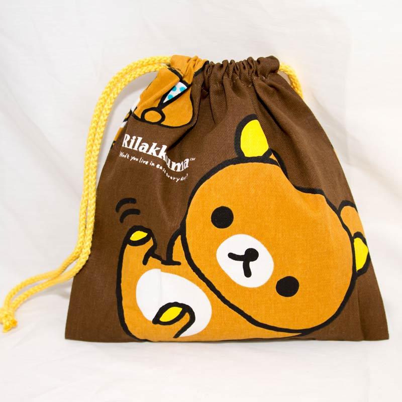 拉拉熊 Rilakkuma 雙面 束口袋 日本帶回正版商品