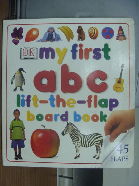 【書寶二手書T1/語言學習_PHE】My first abc_lift the flap board book