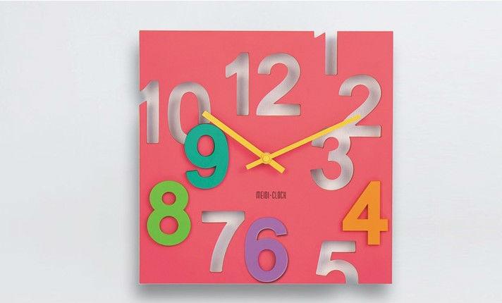 童趣鏤空數字彩色立體掛鐘十天預購+現貨
