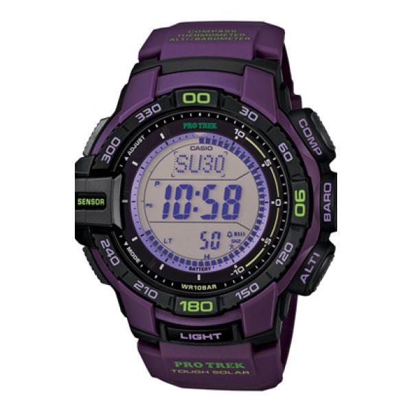 CASIO PRO TREK 登山錶 PRG-270-6A數位專業登山腕錶/紫52.4mm