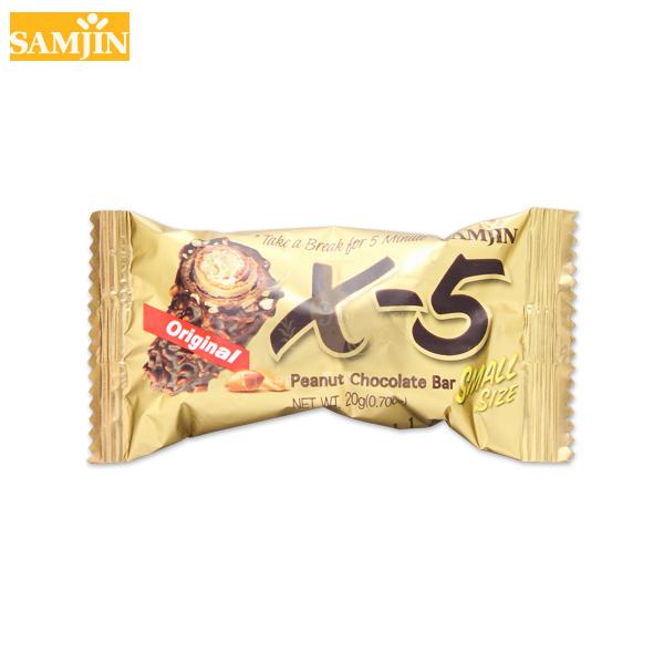韓國 Samjin X-5 脆心花生巧克力捲心酥 單支 20g 迷你款