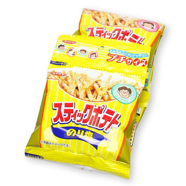 日本進口 湖池屋海苔鹽薯條4連