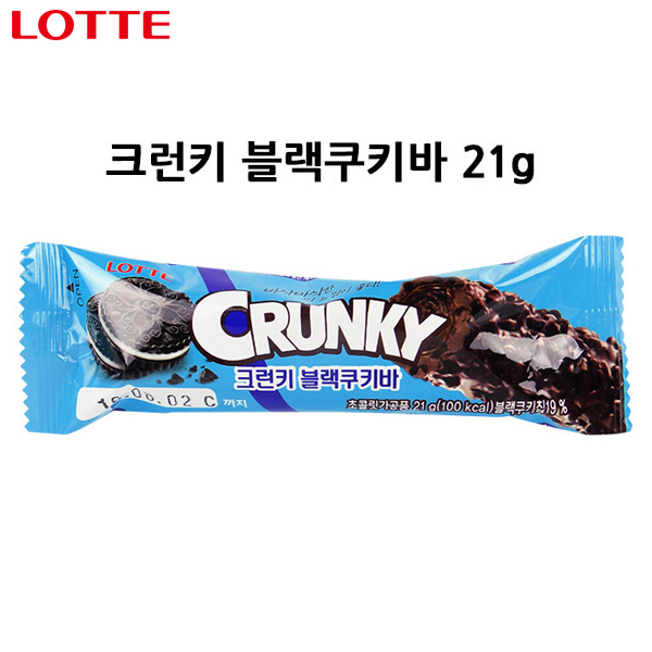 韓國 樂天 LOTTE Crunky 黑旋風巧克力 21g 單條