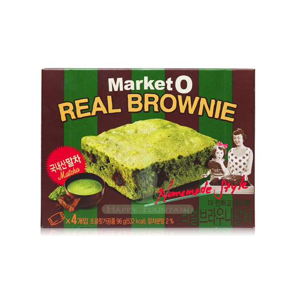 Market O 抹茶布朗尼蛋糕 4枚入