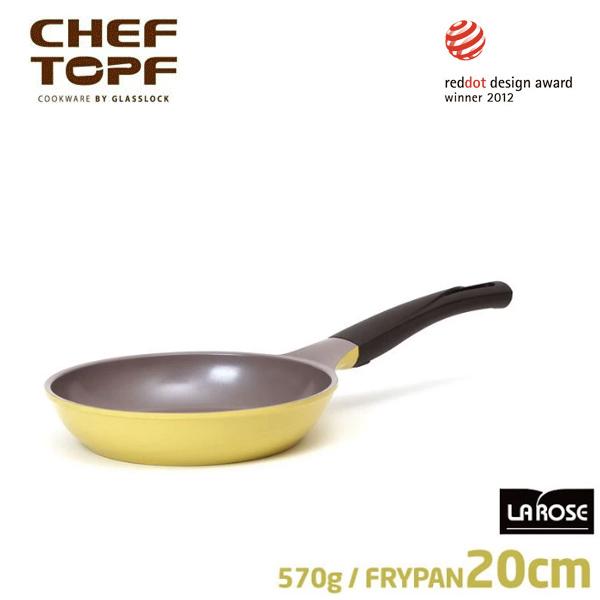 韓國 CHEF TOPF La Rose玫瑰鍋 平底鍋20cm(無蓋)不沾鍋