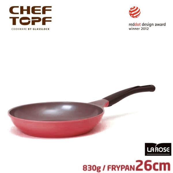 韓國 CHEF TOPF La Rose玫瑰鍋 平底鍋26cm(無蓋)不沾鍋 《加送玫瑰鍋專用隔熱套*1個 》