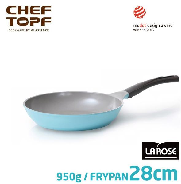 韓國 CHEF TOPF La Rose玫瑰鍋 平底鍋28cm(無蓋)不沾鍋