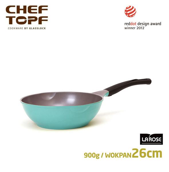 韓國 CHEF TOPF La Rose玫瑰鍋 炒鍋(無蓋)26cm不沾鍋