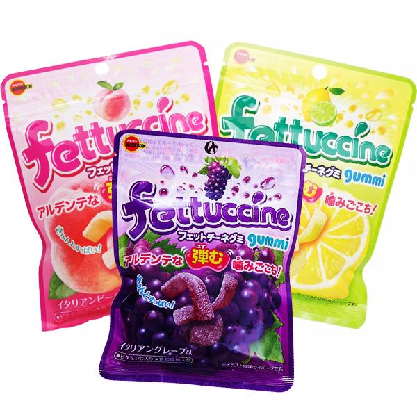 日本進口 北日本水蜜桃/檸檬萊姆/葡萄軟糖 50g