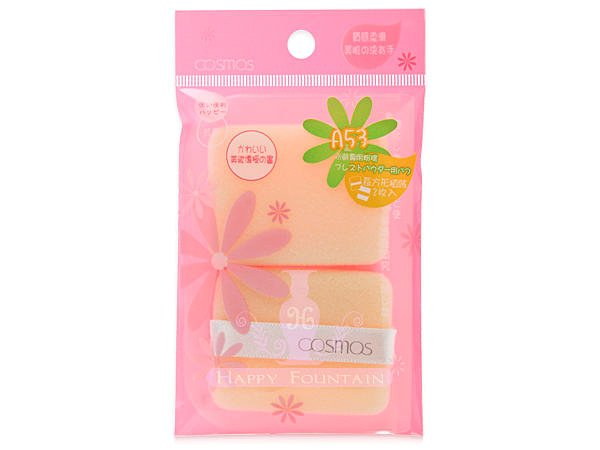 COSMOS 長方型粉餅專用粉撲2入 ~ 附保存袋