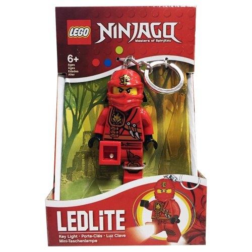 【 LEGO 樂高積木 】忍者人型 LED 燈鑰匙圈- 紅忍 凱