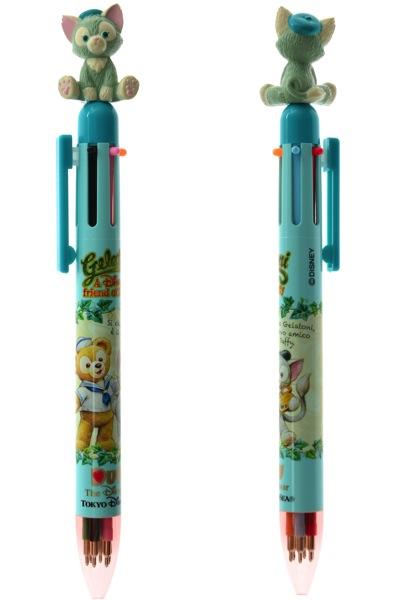 預購 東京迪士尼海洋 Gelatoni  畫筆貓 六色原子筆