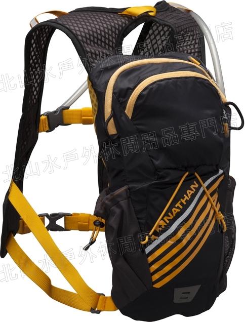 [ NATHAN ] 馬拉松/路跑/腳踏車 Firestorm 二鐵專用水袋背包 附2L水袋 NA5033 黑