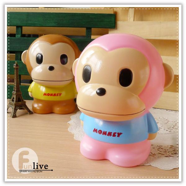 【aife life】大嘴的猴存錢筒/撲滿/可愛猴存錢筒/動物存錢筒/猴子存錢筒/禮品贈品/猴年存錢筒