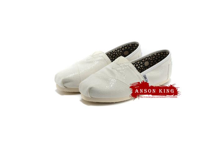 [女款] 國外代購TOMS 帆布鞋/懶人鞋/休閒鞋/至尊鞋 亮片系列  白色