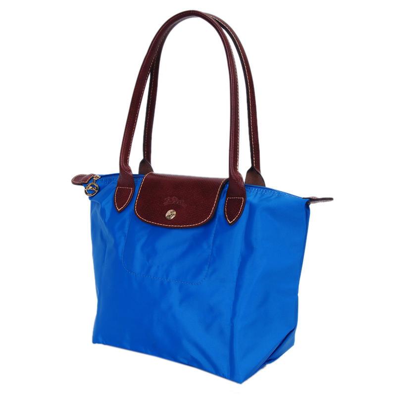 [2605-S號] 國外Outlet代購正品 法國巴黎 Longchamp 長柄 購物袋防水尼龍手提肩背水餃包 佛青藍