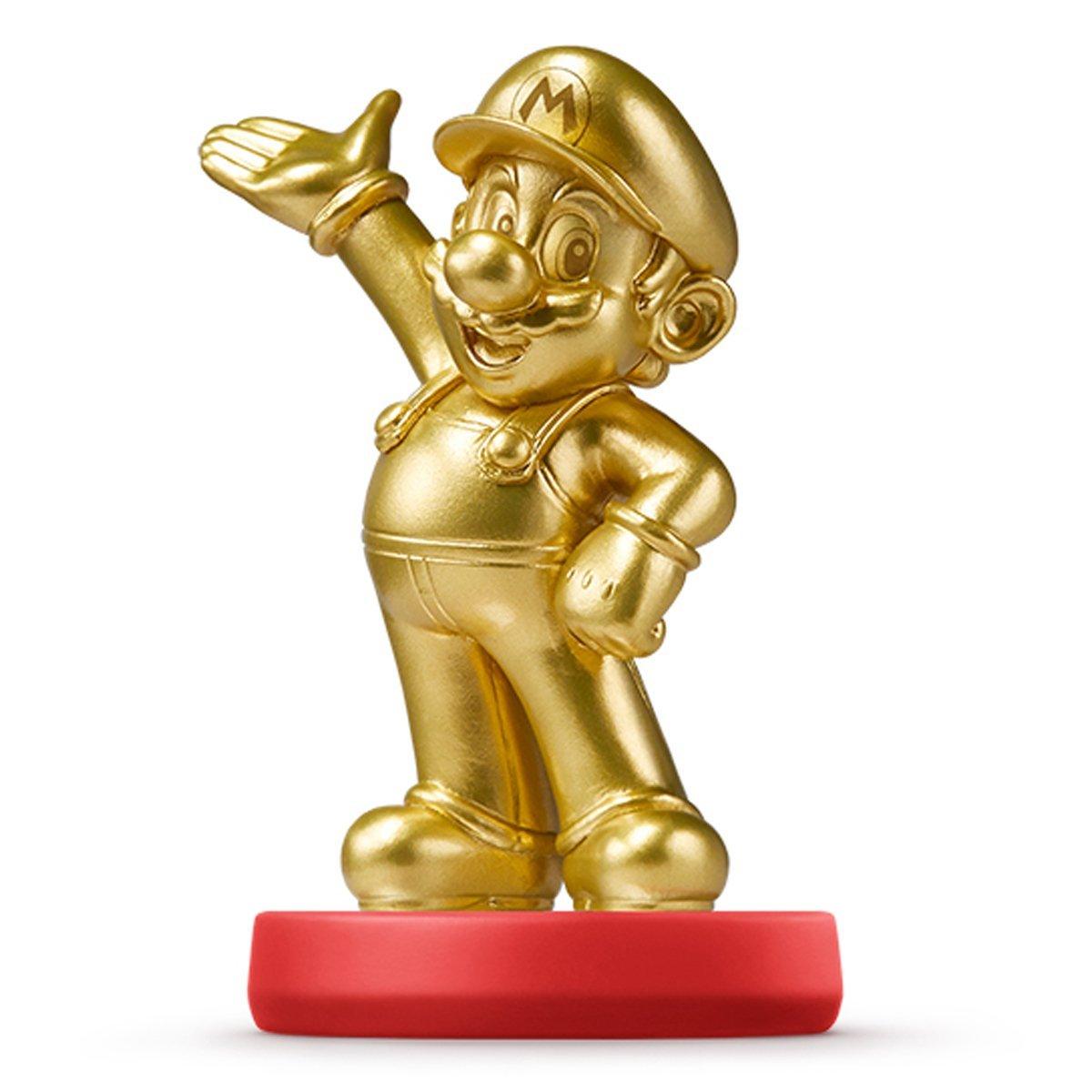 Amiibo Mario Gold Ver. 黃金馬莉歐 黃金馬力歐 無敵狀態  互動 Wii U/New3DS/New3DS LL 公仔 超級瑪莉系列