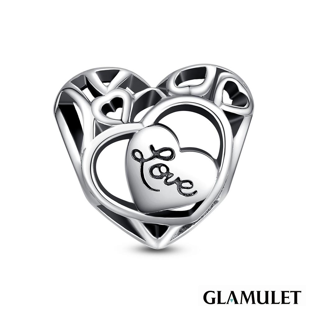 Glamulet格魅麗925純銀心形鏤空 charm 925純銀