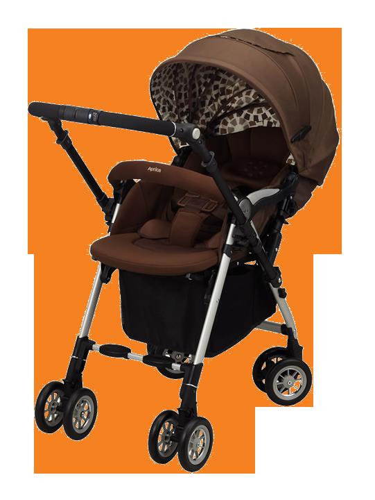 【下殺65折】【悅兒園婦幼生活館】Aprica 愛普力卡 SORARIA 719 Auto四輪自動定位導向型嬰幼兒手推車-棕櫚格